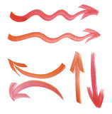 Paint drawn arrows set. design element. Stock Image