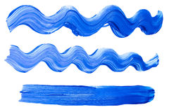 Paint drawn with brush stroke Royalty Free Stock Photo