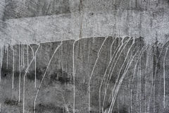 Paint-dripped Plaster Wall Royalty Free Stock Image