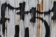 Paint-dripped Sheet Metal Fence Stock Photos
