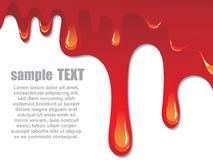 Paint dripping. A Paint dripping, vector illustration Stock Image