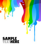 Paint dripping. Colorful drips of paint isolated on white background Royalty Free Stock Images