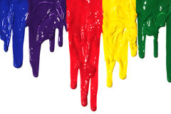 Paint dripping. Different colors of paint dripping Stock Images