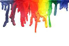 Paint dripping. Different colors of paint dripping Stock Photos