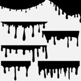 Paint dripping. Dripping liquid. royalty free illustration