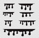 Paint dripping. Dripping liquid. Paint flows. Current paint, sta vector illustration