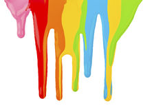 Paint dripping isolated Stock Photography