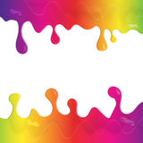 Paint dripping text layout Royalty Free Stock Photos