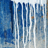 Paint dripping wall Royalty Free Stock Photos