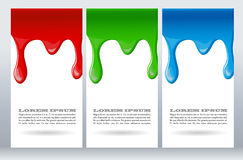 Paint dripping on white card Royalty Free Stock Image