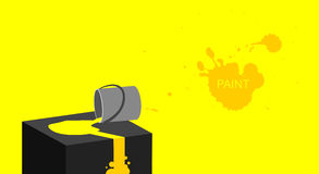 Paint dripping. Yellow paint dripping, flowing. Vector art background Stock Images