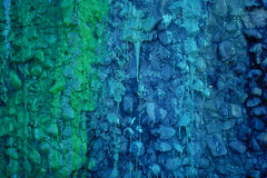 Paint drippings. Wall covered with colorful paint Royalty Free Stock Photos