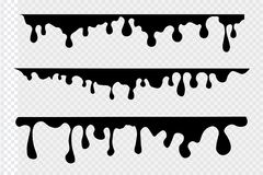 Paint drips background. Vector dripping paint. Illustrations of various dripping black paint. Ink drip and blob, drop splash, splatter stain. Abstract ink vector illustration
