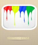 Paint drips postcard illustration Royalty Free Stock Image