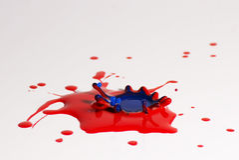 Paint drop collision Stock Photo