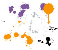 Paint drops. In different shapes on the wite vector illustration