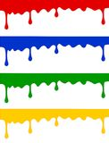 Paint drops header. Color paint drops headers isolated on white background Stock Photography