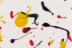 Paint drops splash paper. Gouache artistic background royalty free stock photos