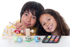 Paint easter egg Stock Photos