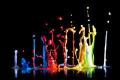 Paint explosion Royalty Free Stock Photo