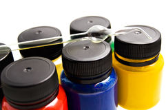 Paint for a fabric. Royalty Free Stock Photos