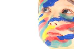 Paint face portrait Royalty Free Stock Images