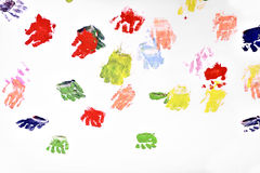 Paint finger print stock photography