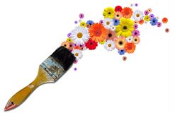 Paint flowers Royalty Free Stock Photos