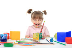 Paint girl Stock Photography