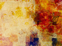 Paint glazes on canvas structure Royalty Free Stock Photo