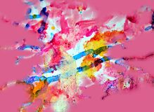 Paint gold pink pastel forms, abstract pastel hues Stock Photography