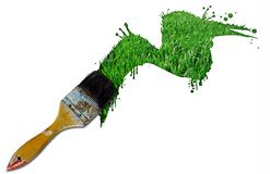 Paint grass Royalty Free Stock Images