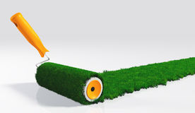 Paint a grassy strip Royalty Free Stock Images