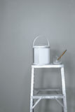 Paint the gray wall Royalty Free Stock Photography