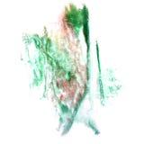 Paint green splash ink stain watercolour blob spot Royalty Free Stock Image