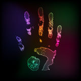 Paint hand abstract Stock Images