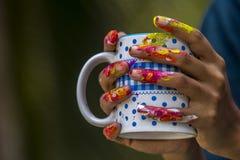 Paint hand Royalty Free Stock Photos