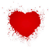 Paint Heart from painted texture paper Valentines Royalty Free Stock Image