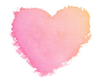 Paint heart symbol. Painted heart symbol of love stock image