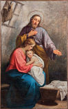 The paint of Holy Family from church Santa Maria Immacolata delle Grazie Stock Photography