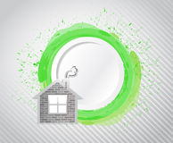 Paint and home illustration design Royalty Free Stock Photo
