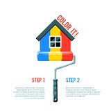 Paint House Icon Stock Photos