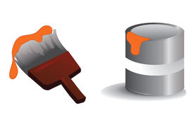 Paint icons Stock Images