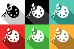 Paint icons Stock Photography