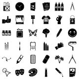 Paint icons set, simple style. Paint icons set. Simple set of 36 paint vector icons for web isolated on white background Royalty Free Stock Photo