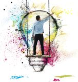 Paint an idea Stock Image