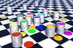 Paint illustration Stock Image