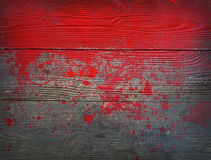 Paint imitating blood. On floor Royalty Free Stock Photography