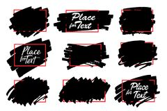 Paint, ink brush stroke, marker highlighter spot. vector illustration