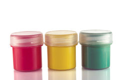 Paint in jars Stock Photo